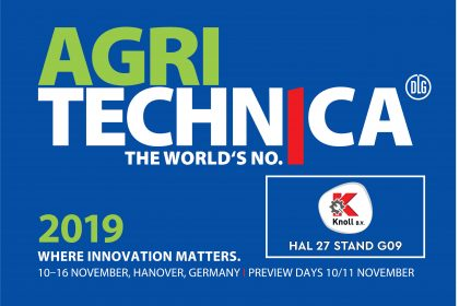 Knoll B.V. – Baling & Wrapping aanwezig op Agritechnica 2019 in Hannover. U vindt ons in hal 27 stand G09.