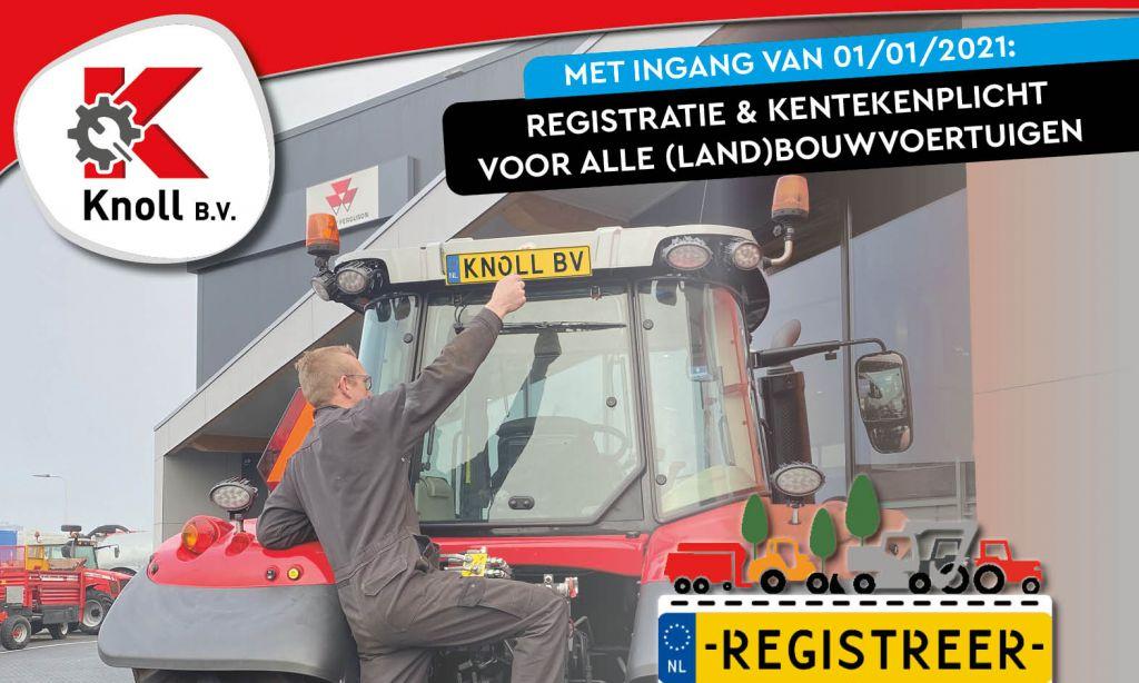 Registreer je (land)bouwvoertuig! (foto voor website) - Knoll B.V. helpt je hiermee!