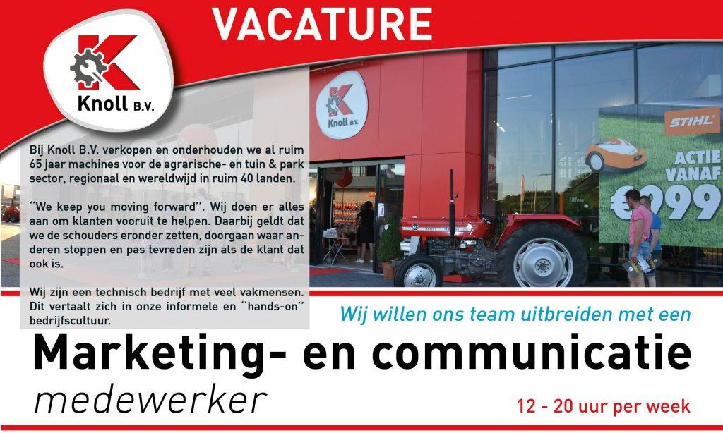 Headerfoto - Vacature Marketing- en Communicatie medewerker - Knoll B.V.
