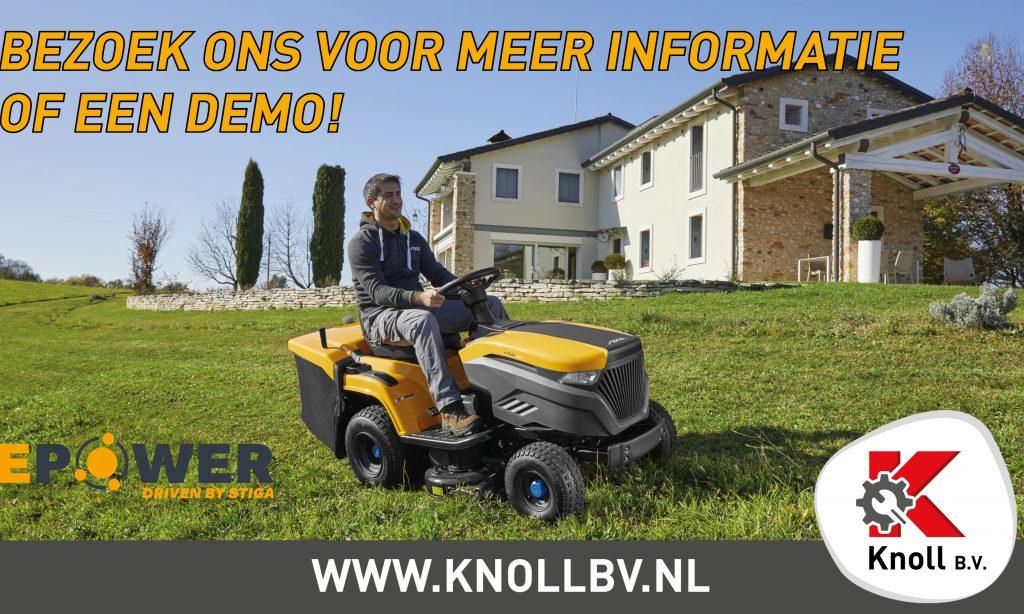 Bezoek Knoll B.V. voor meer informatie over de STIGA e-Ride!