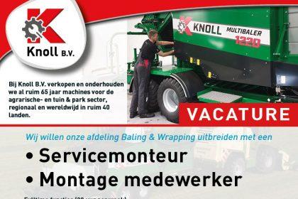 VACATURE! Servicemonteur en Assemblage medewerker Baling & Wrapping